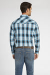 Long Sleeve Plaid Shirt in Turquoise Plaid | Ely Cattleman