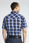 Short Sleeve Plaid Shirt in Royal Plaid