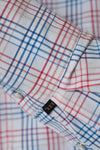 Men's Black Label Premium Cotton Plaid Western Shirt in Coral | Ely Cattleman
