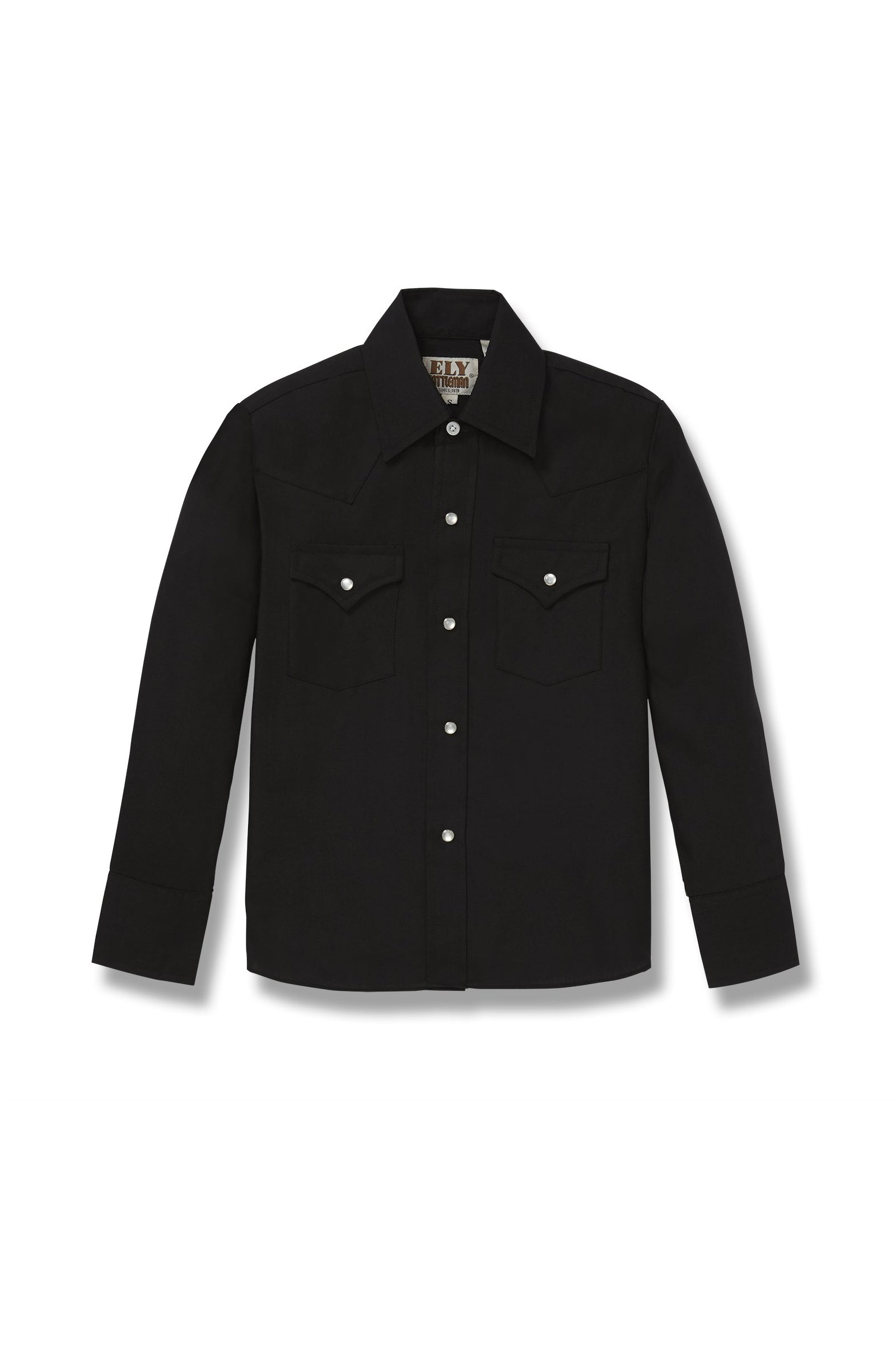 Boy's Long Sleeve Western Shirt in Black | Ely Cattleman