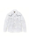 Boy's Long Sleeve Solid Western Shirt with Black Piping | Ely Cattleman