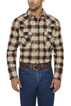 Men's Long Sleeve Aztec Dobby Flannel Shirt | Ely Cattleman