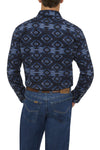 Men's Long Sleeve Aztec Print Flannel Shirt | Ely Cattleman