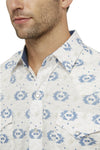 Men's Long Sleeve Aztec Print Shirt in Stone | Ely Cattleman