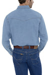 Men's Long Sleeve Bleach Wash Denim Shirt | Ely Cattleman
