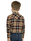 Ely Cattleman Long Sleeve Cotton Flannel Shirt in Tan Plaid