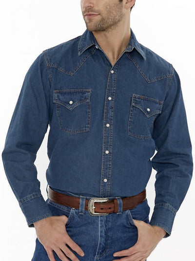 Men's Long Sleeve Denim Shirt | Ely Cattleman