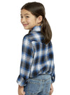 Girl's Long Sleeve Flannel Shirt in Blue | Ely Cattleman