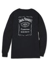 Men's Long Sleeve Jack Daniel's Old No.7 Label T-Shirt | Ely Cattleman