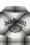 Men's Long Sleeve Jack Daniel's Plaid Logo Shirt | Ely Cattleman