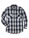 Men's Long Sleeve Jack Daniel's Plaid Shirt with Sleeve Embroidery | Ely Cattleman