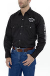 Men's Long Sleeve Jack Daniel's Western Shirt in Black | Ely Cattleman