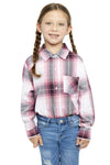 Girl's Long Sleeve Plaid Shirt in Pink | Ely Cattleman