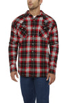 Men's Long Sleeve Sherpa-Lined Flannel Shirt in Red Plaid | Ely Cattleman