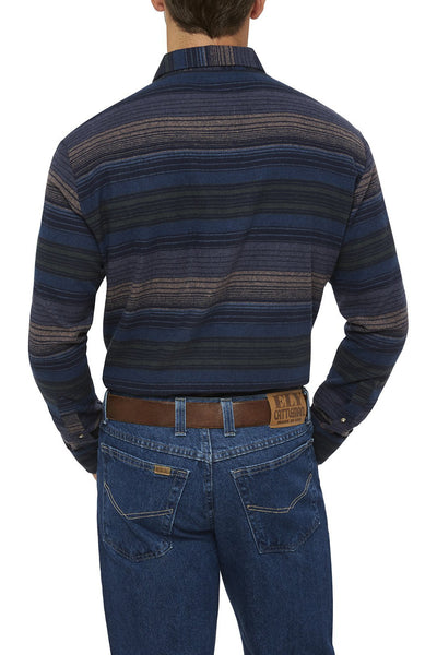 Men's Long Sleeve Striped Flannel Shirt | Ely Cattleman