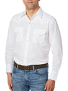 Men's Long Sleeve Wrinkle Resistant Oxford in White | Ely Cattleman
