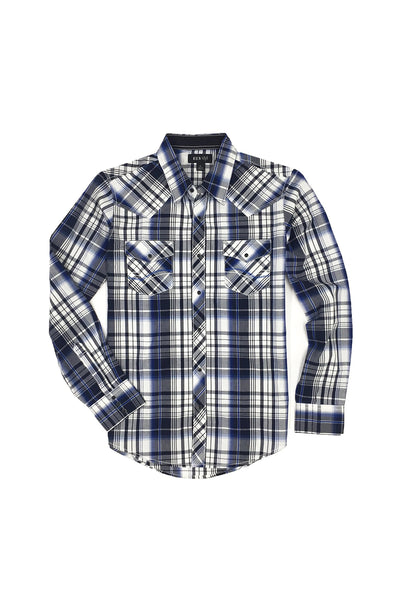 Special Edition Ely 1878 Long Sleeve Cotton Shirt in Blue | Ely Cattleman