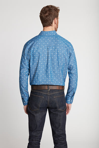 Men's Black Label Premium Denim Paisley Button-Down | Ely Cattleman