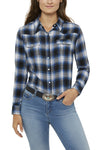 Ely Cattleman Relaxed Fit Flannel Shirt in Blue Plaid