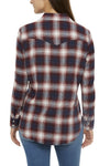 Women's Relaxed Fit Flannel Shirt in Burgundy Plaid | Ely Cattleman