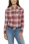 Women's Relaxed Fit Flannel Shirt in Pink Plaid | Ely Cattleman