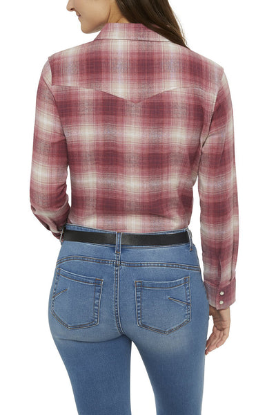 Ely Cattleman Relaxed Fit Flannel Shirt in Pink Plaid