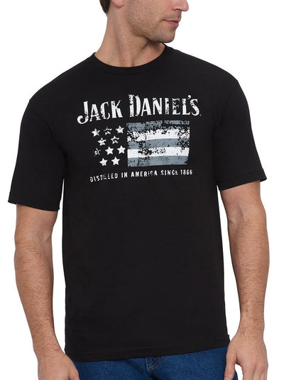 Men's Short Sleeve Jack Daniel's® JD with Flag T-Shirt | Ely Cattleman