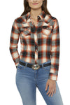 Women's Tailored Fit Flannel Shirt in Spice Plaid | Ely Cattleman
