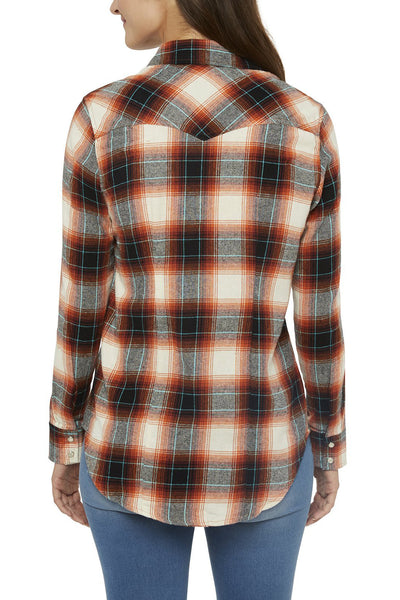 Ely Cattleman Tailored Fit Flannel Shirt in Spice Plaid
