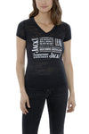 Women's Short Sleeve Jack Daniel's Collage V-Neck T-Shirt | Ely Cattleman