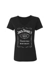Women's Short Sleeve Jack Daniel's V-Neck T-Shirt | Ely Cattleman
