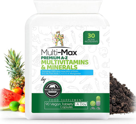 Multivitamin Tablets High Absorption Vitamins & Minerals Vegan for Men and Women