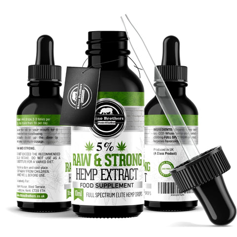 Best Hemp Oil Drops | Anxiety X Pain X Sleep X Mood X Stress | Original 5% Premium Extract |