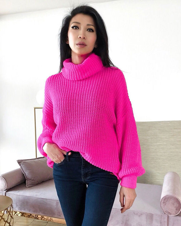 Pop-Up Pink Oversize Pullover