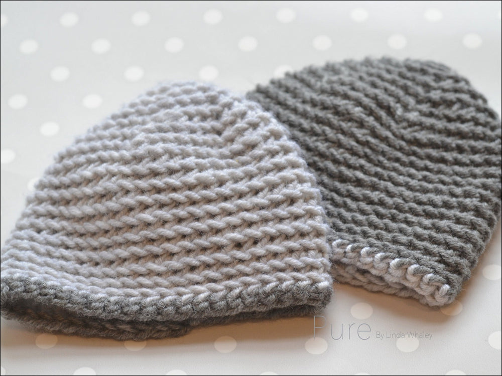 GRAY SIMPLE CROCHET BEANIE
