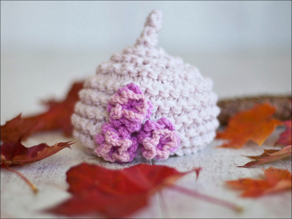 PIXIE THREE FLOWER BEANIE