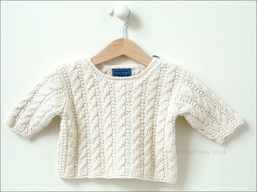 MINI CABLE SWEATER 0-4M/4-8M