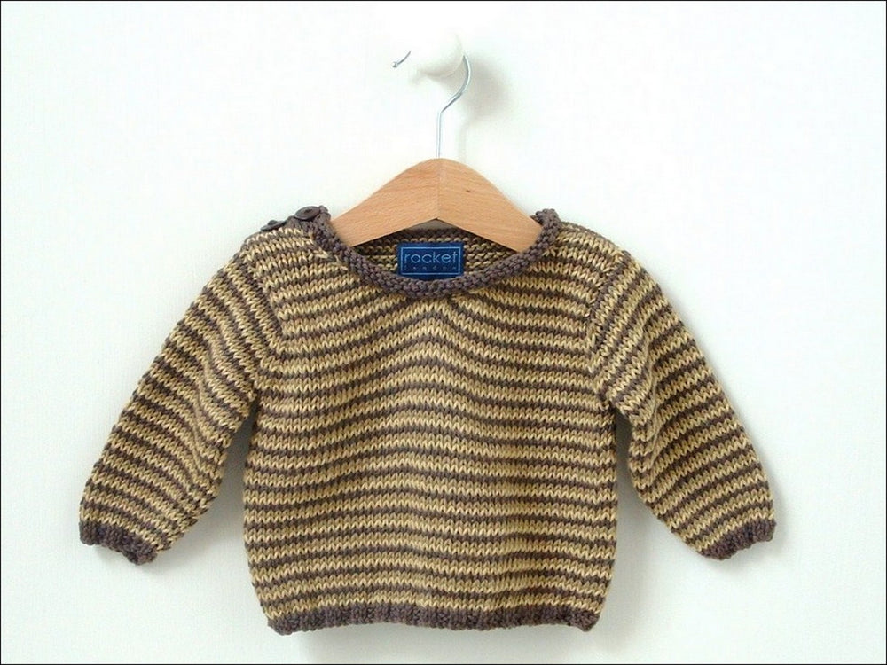 MULTI STRIPE V SWEATER