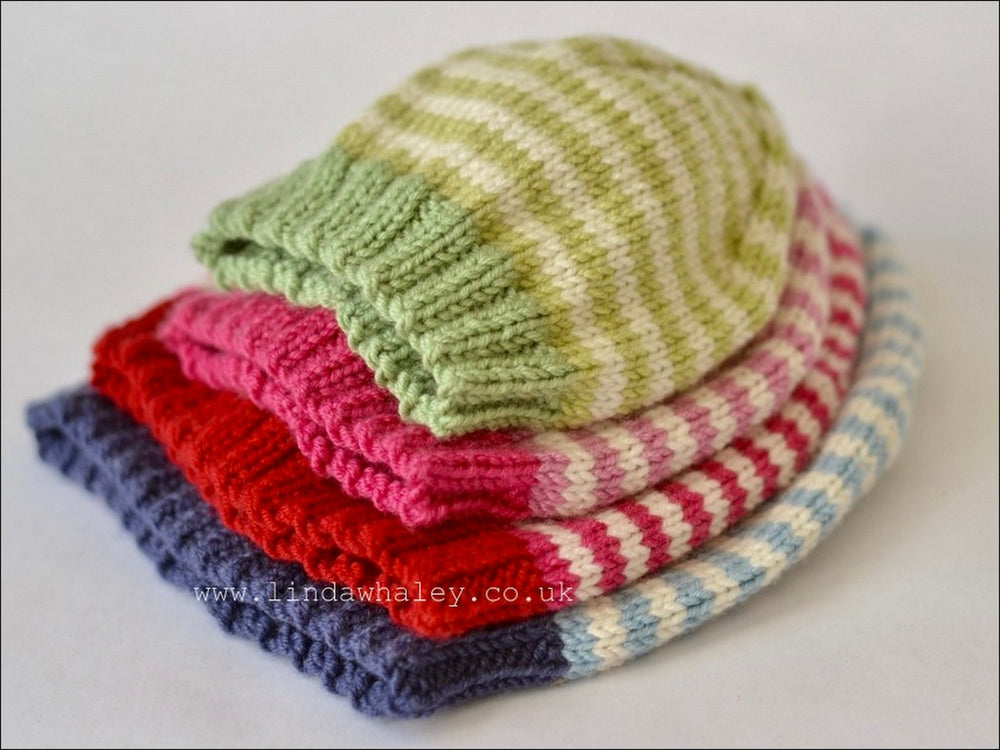 SIMPLE STRIPE RIB HAT