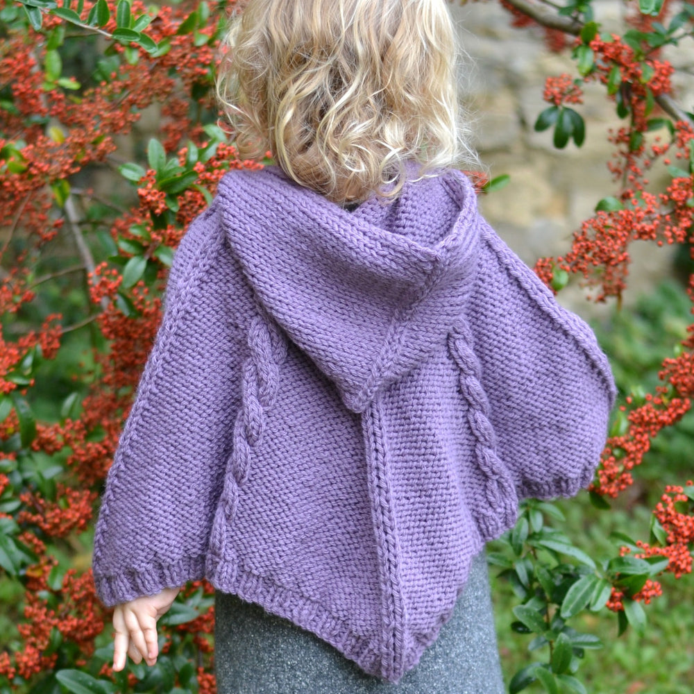 CABLED PONCHO