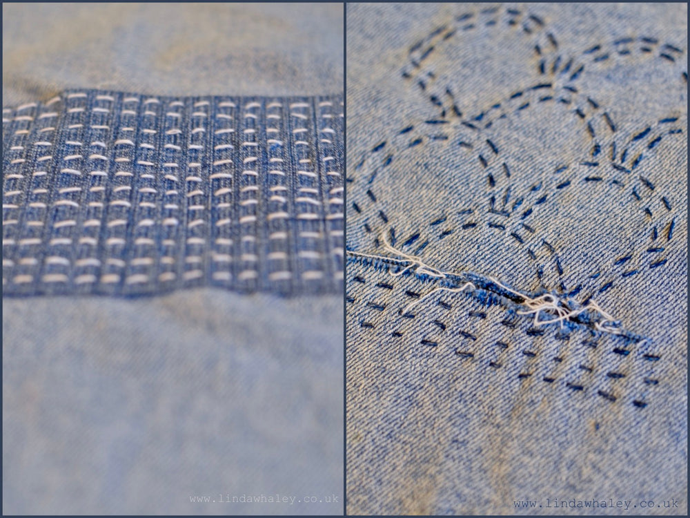 A SASHIKO VISIBLE DECORATIVE MENDING MORNING