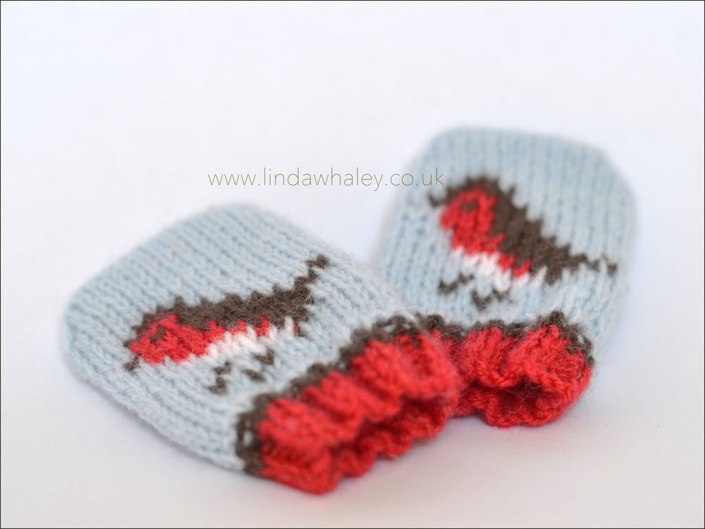 LITTLE ROBINS BEANIE AND BABY MITTS SET