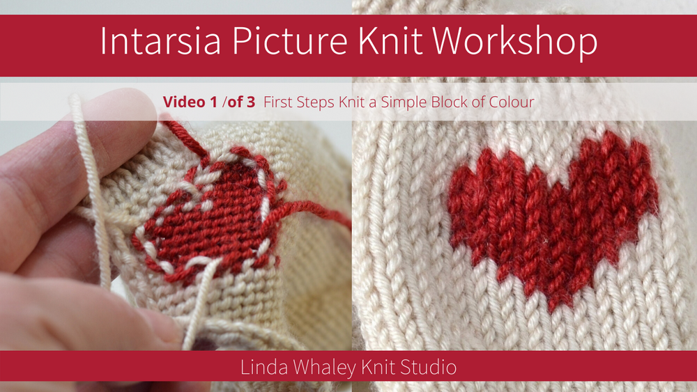 CHARTS FOR HOW TO KNIT INTARSIA PICTURE KNITS 1 & 2 VIDEOS