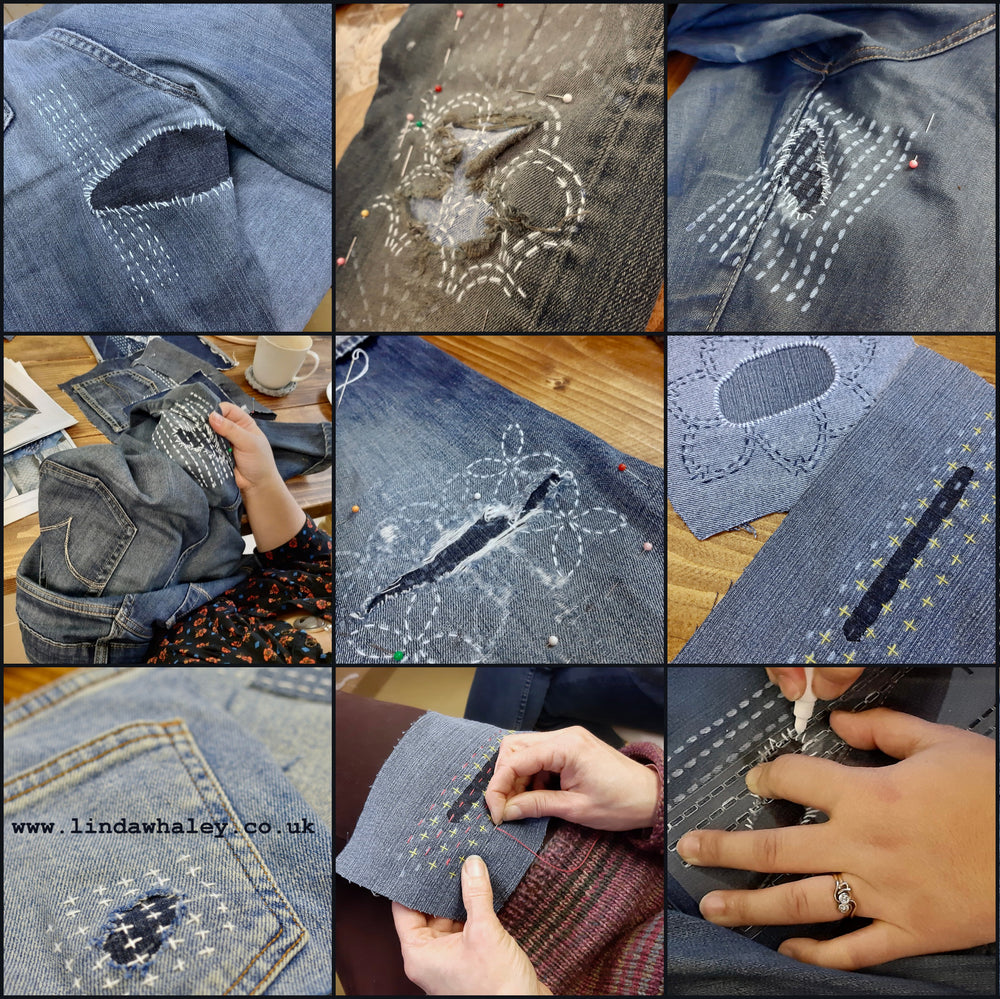 A SASHIKO VISIBLE DECORATIVE MENDING EVENING WITH PROSECCO