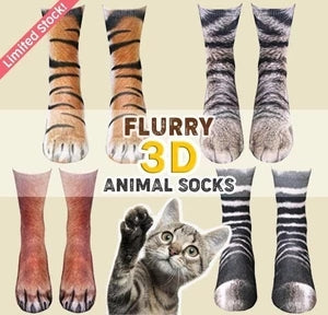 【50% OFF】Flurry 3D Animal Paw Socks
