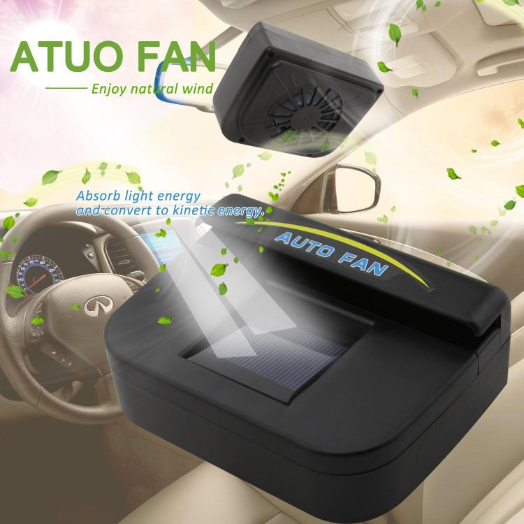 Solar Powered Car Window Auto Air Vent Cooling Fan