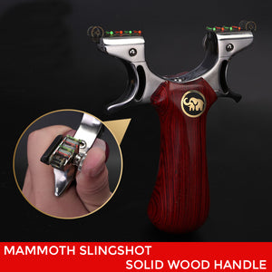 Mammoth™ Professional Stainless Steel Slingshots with 2 Ruber Bands