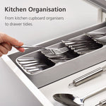 DrawerStore™ Compact Cutlery Organizer