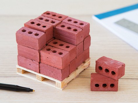 New 32Pcs Mini Cement Cinder Bricks