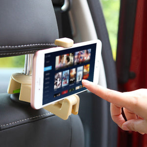 Car Headrest Hook with Phone Holder (2 pcs)